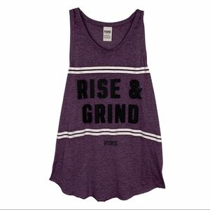 Pink VS Rise And Grind Tank Top